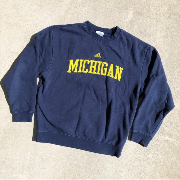 adidas Other - Adidas Navy & Gold U of M Crew Neck Sweatshirt